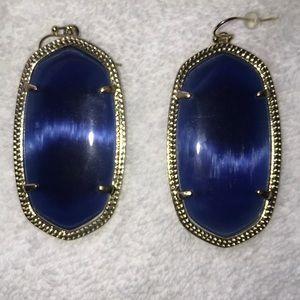 Kendra Scott Navy Cats Eye Danielle earrings